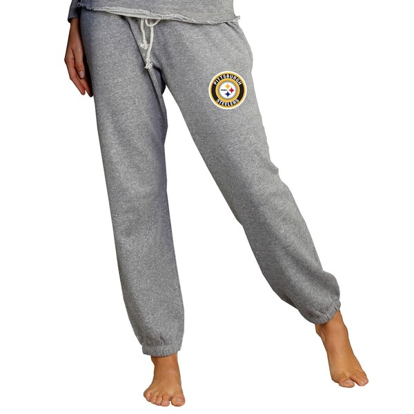 コンセプトスポーツ レディース カジュアルパンツ ボトムス Pittsburgh Steelers Concepts Sport Women's Mainstream Jogger Pants Gray