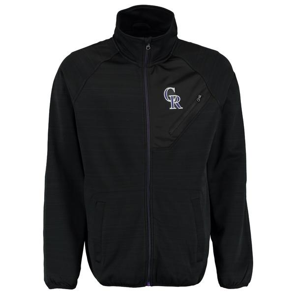 カールバンクス メンズ ジャケット&ブルゾン アウター Colorado Rockies GIII Sports by Carl Banks Full Count Track Jacket Black