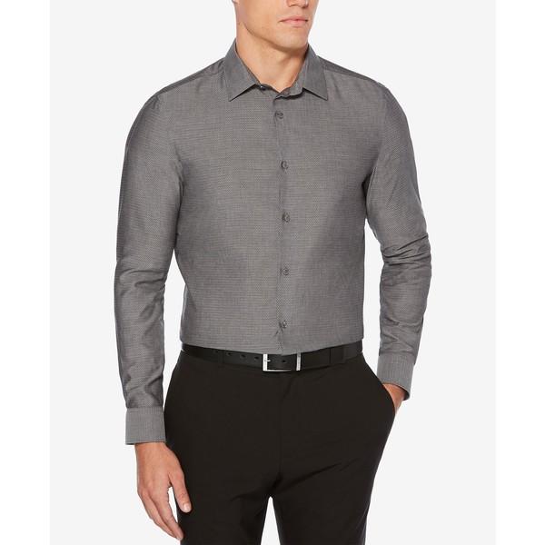 メンズ Shirt トップス Slim-Fit シャツ ペリーエリス Dobby Grey Castlerock Men's