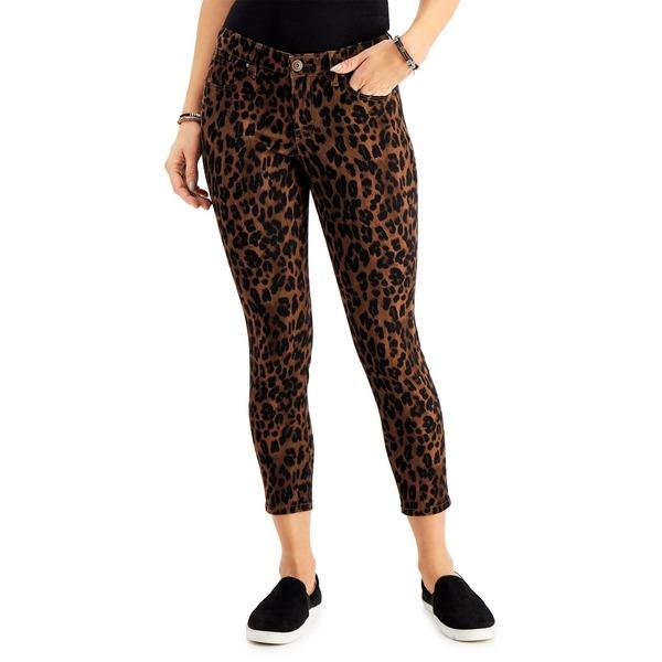 【超安い】 スタイルアンドコー レディース デニムパンツ ボトムス Petite Crop Animal Print Skinny Jeans, Classic Animal Brown, 紫波町 4e9be5b4