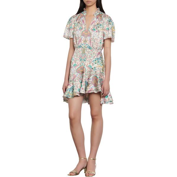 サンドロ レディース ワンピース トップス Iren Floral Print Minidress Ivory