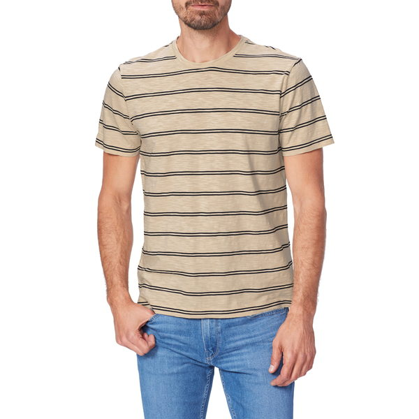 ペイジ メンズ シャツ トップス Hoover Stripe Slim Fit T-Shirt Summer Ivory