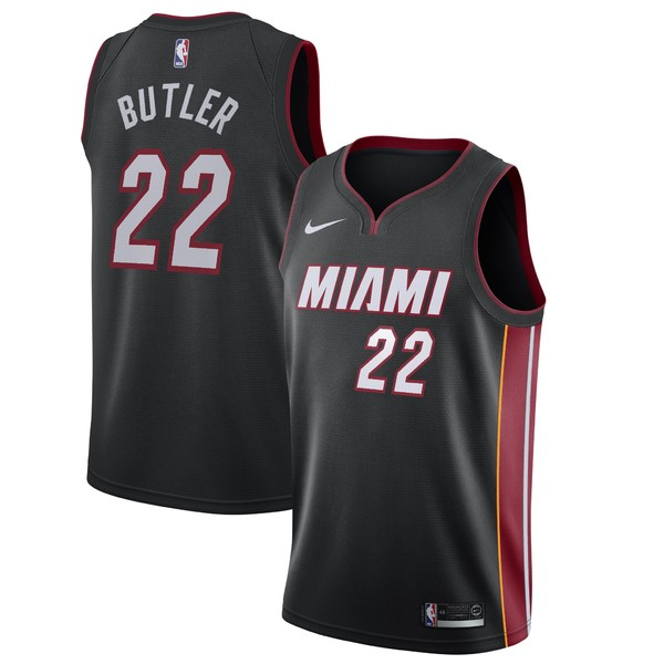 ナイキ メンズ ユニフォーム トップス Jimmy Butler Miami Heat Nike 2019/20 Swingman Jersey Black Icon Edition