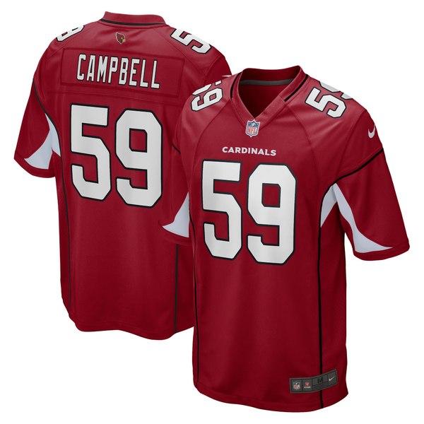 ナイキ メンズ ユニフォーム トップス De'Vondre Campbell Arizona Cardinals Nike Game Jersey Cardinal