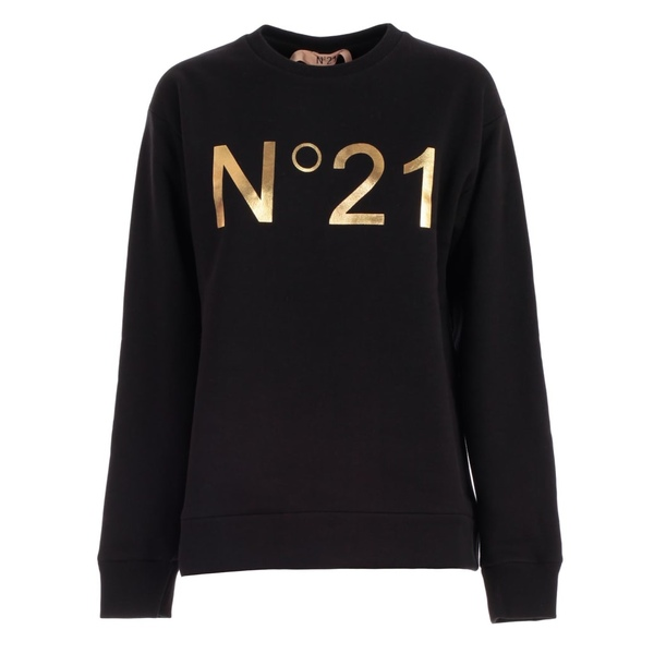 ヌメロ ヴェントゥーノ レディース パーカー・スウェットシャツ アウター N.21 Sweatshirt Round Neck W/logo Nero