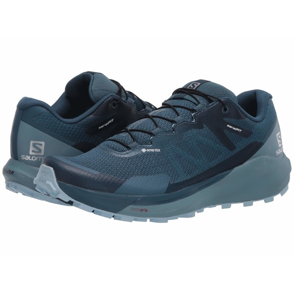 サロモン レディース スニーカー シューズ Sense Ride 3 GTX Invisible Fit Indian Teal/Smoke Blue/Angel Falls