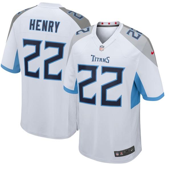 ナイキ メンズ ユニフォーム トップス Derrick Henry Tennessee Titans Nike Player Game Jersey Light Blue