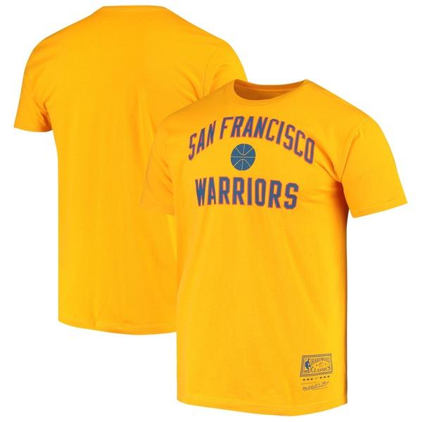 ミッチェル&ネス メンズ Tシャツ トップス Golden State Warriors Mitchell & Ness Hardwood Classics Primary Logo TShirt Royal