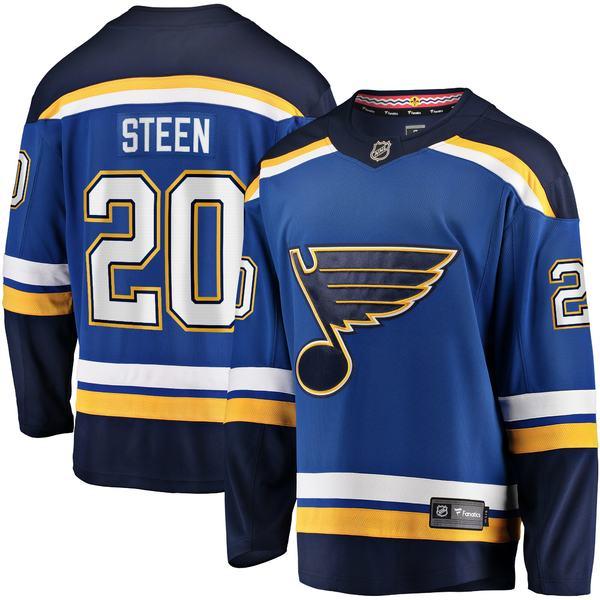 ファナティクス メンズ ユニフォーム トップス Alexander Steen St. Louis Blues Fanatics Branded Home Breakaway Player Jersey Blue