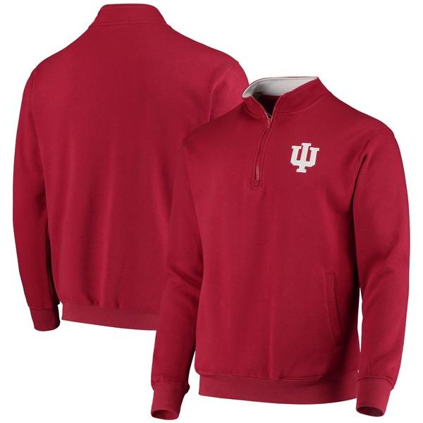 コロシアム メンズ ジャケット&ブルゾン アウター Indiana Hoosiers Colosseum Tortugas Logo QuarterZip Pullover Jacket Charcoal
