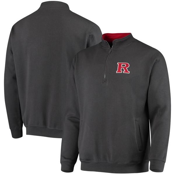 コロシアム メンズ ジャケット&ブルゾン アウター Rutgers Scarlet Knights Colosseum Tortugas Logo QuarterZip Jacket Charcoal