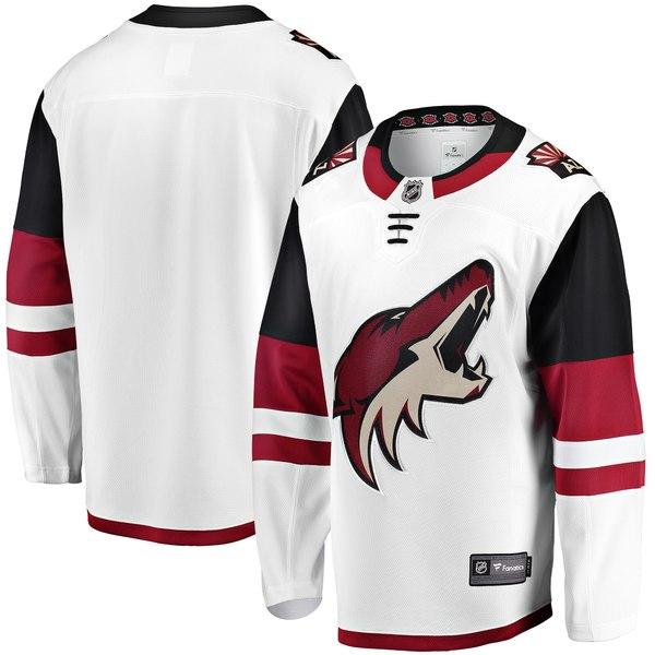 ファナティクス メンズ ユニフォーム トップス Arizona Coyotes Fanatics Branded Breakaway Away Jersey White