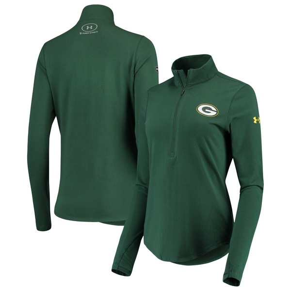 アンダーアーマー レディース ジャケット&ブルゾン アウター Green Bay Packers Under Armour Women's Combine Authentic Favorites Half-Zip Jacket Green