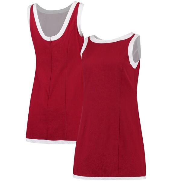 ローレンジェームス レディース ワンピース トップス Lauren James Women's The Harper Seersucker Dress Crimson/White