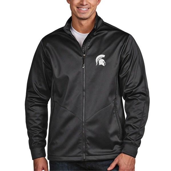 アンティグア メンズ ジャケット&ブルゾン アウター Michigan State Spartans Antigua Golf Full-Zip Jacket Charcoal