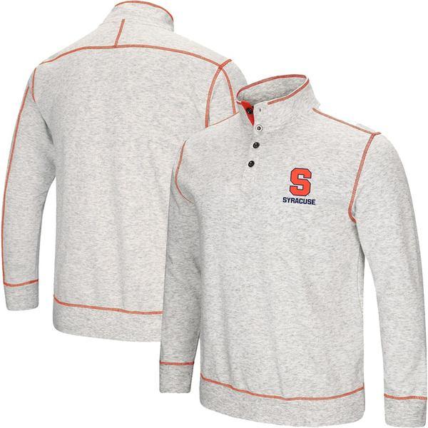 コロシアム メンズ ジャケット&ブルゾン アウター Syracuse Orange Colosseum Bourbon Bowl 1/2-Button Up Jacket Heathered Gray