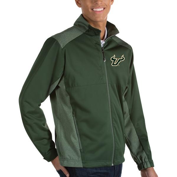 アンティグア メンズ ジャケット&ブルゾン アウター South Florida Bulls Antigua Revolve Full-Zip Jacket Green