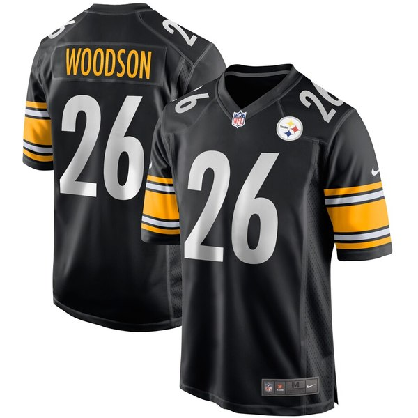 ナイキ メンズ ユニフォーム トップス Rod Woodson Pittsburgh Steelers Nike Game Retired Player Jersey Black