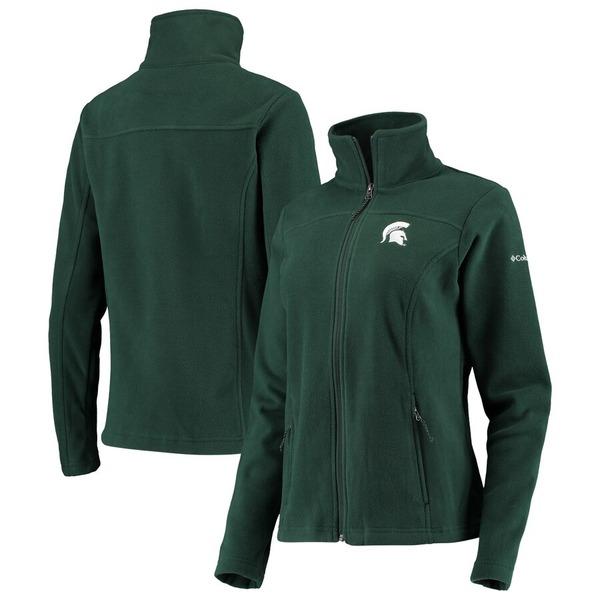 コロンビア レディース ジャケット&ブルゾン アウター Michigan State Spartans Columbia Women's Give & Go II Fleece Full-Zip Jacket Green