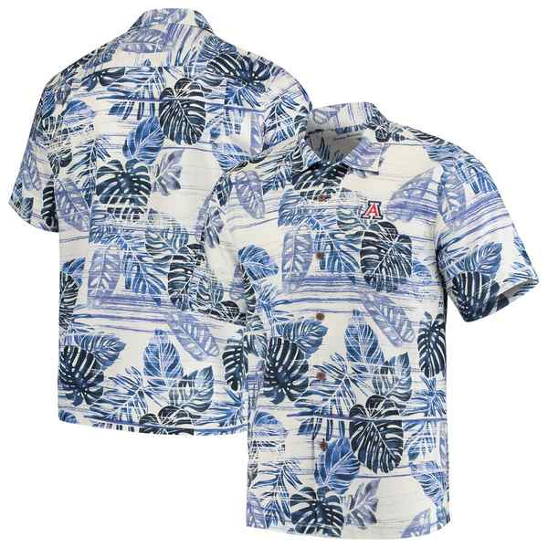 トッミーバハマ メンズ シャツ トップス Arizona Wildcats Tommy Bahama Super Fan Camp Shirt Navy