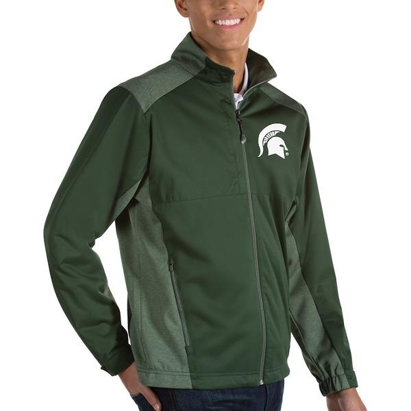 アンティグア メンズ ジャケット&ブルゾン アウター Michigan State Spartans Antigua Revolve Full-Zip Jacket Green