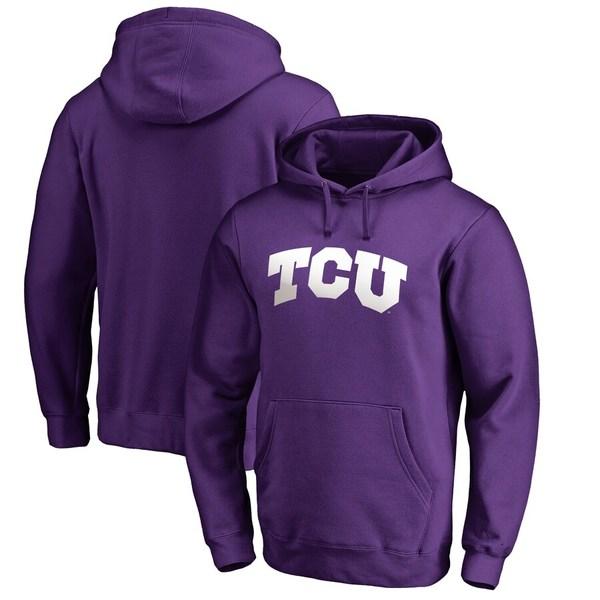 ファナティクス メンズ パーカー・スウェットシャツ アウター TCU Horned Frogs Fanatics Branded Big & Tall Gradient Logo Pullover Hoodie Purple