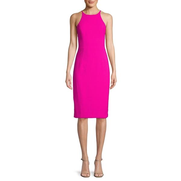 ブラックハロ レディース ワンピース トップス Montego Halter Sheath Dress Vibrant Pink