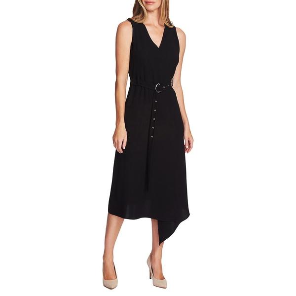 ヴィンスカムート レディース ワンピース トップス Highland Crepe Belted Dress Rich Black
