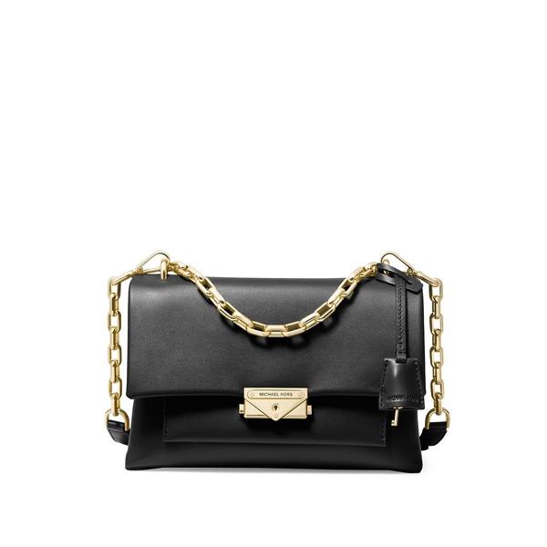 マイケルコース レディース ハンドバッグ バッグ Cece Medium Chain Shoulder Bag Black