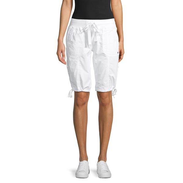 トミーヒルフィガー レディース カジュアルパンツ ボトムス Convertible Drawstring Cargo Shorts White