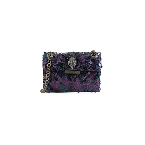 カートジェイガーロンドン レディース ハンドバッグ バッグ Sequined Kensington Crossbody Bag Dark Blue