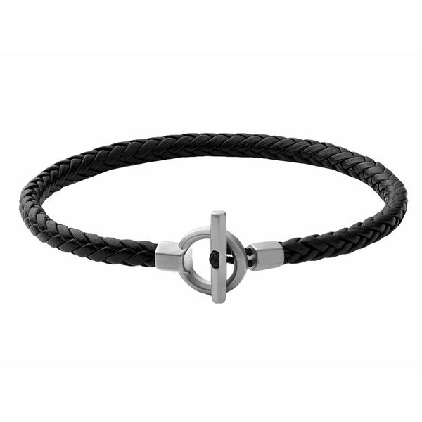 ミアンサイ メンズ ブレスレット・バングル・アンクレット アクセサリー Atlas Leather Bracelet Black