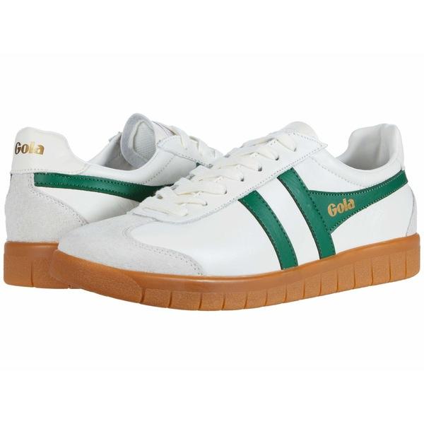 ゴラ メンズ スニーカー シューズ Hurricane Leather Off-White/Green/Gum