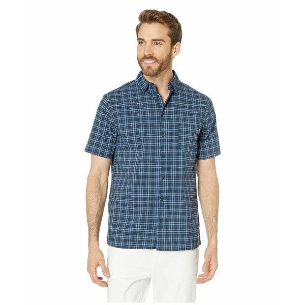 ヘリーハンセン メンズ シャツ トップス Fjord QD Short Sleeve Shirt Navy Check