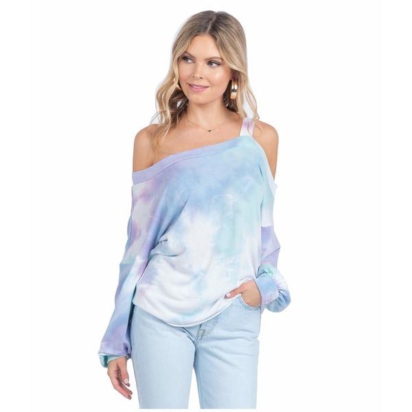 アメリカンローズ レディース パーカー・スウェットシャツ アウター Kimia Tie-Dye Sweater Lavender/Mint