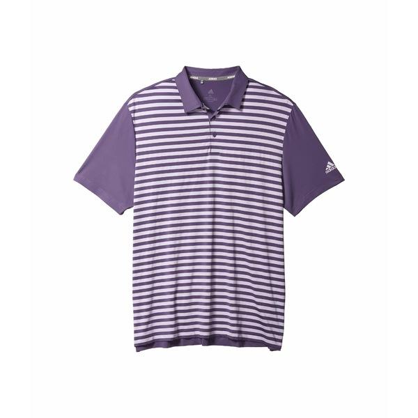 アディダス メンズ シャツ トップス Ultimate365 Wide Stripe Polo Shirt Tech Purple/Purple Tint