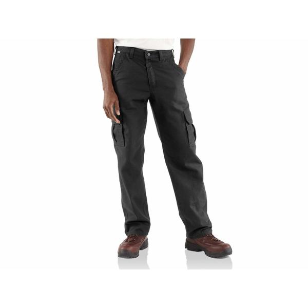 カーハート メンズ カジュアルパンツ ボトムス Big & Tall Flame-Resistant Canvas Cargo Pants Black