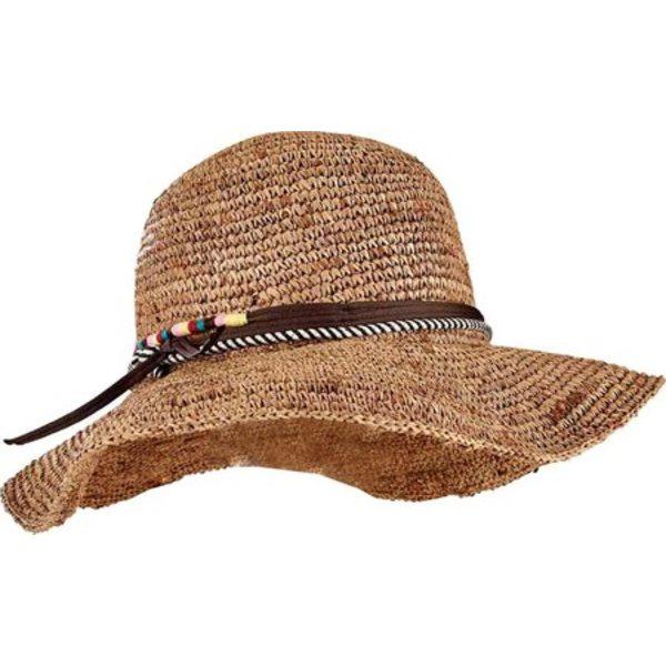 サンディエゴハット レディース アクセサリー 帽子 Coffee ブランド買うならブランドオフ 全商品無料サイズ交換 Crochet Raffia Floppy RHM6008 Sun Women's 直輸入品激安 Hat Round Crown