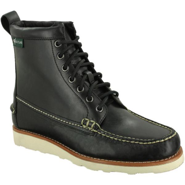 イーストランド メンズ シューズ ブーツ レインブーツ Black 超激得SALE 全商品無料サイズ交換 Men's 格安店 Leather Sherman 1955