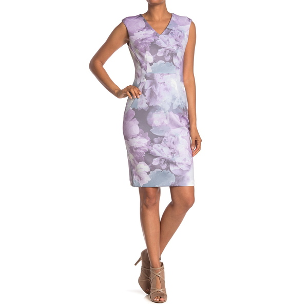 カルバンクライン レディース トップス ワンピース OPAL MULTI Sheath 当店一番人気 大特価 Dress Watercolor 全商品無料サイズ交換 Floral