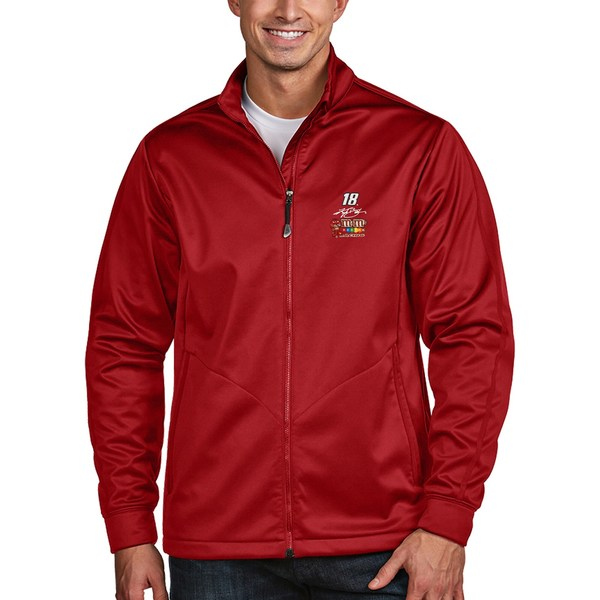 アンティグア メンズ ジャケット&ブルゾン アウター Kyle Busch Antigua Golf FullZip Jacket Red