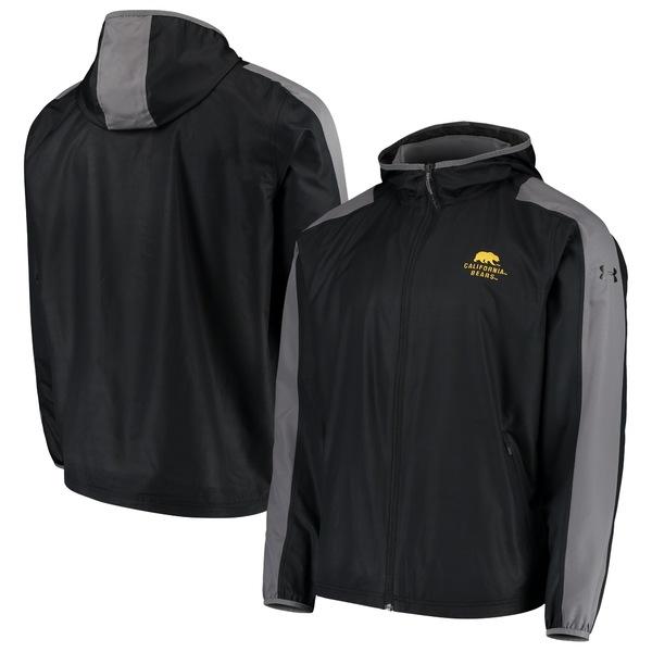アンダーアーマー メンズ ジャケット&ブルゾン アウター Cal Bears Under Armour Supervent Windbreaker Jacket Black