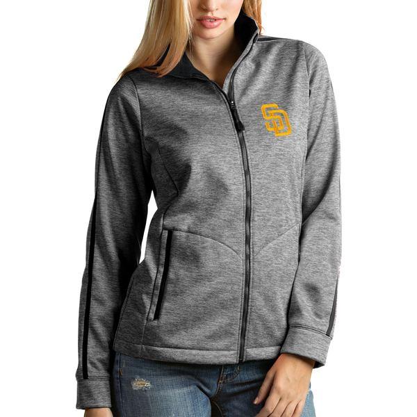 アンティグア レディース ジャケット&ブルゾン アウター San Diego Padres Antigua Women's FullZip Golf Jacket White