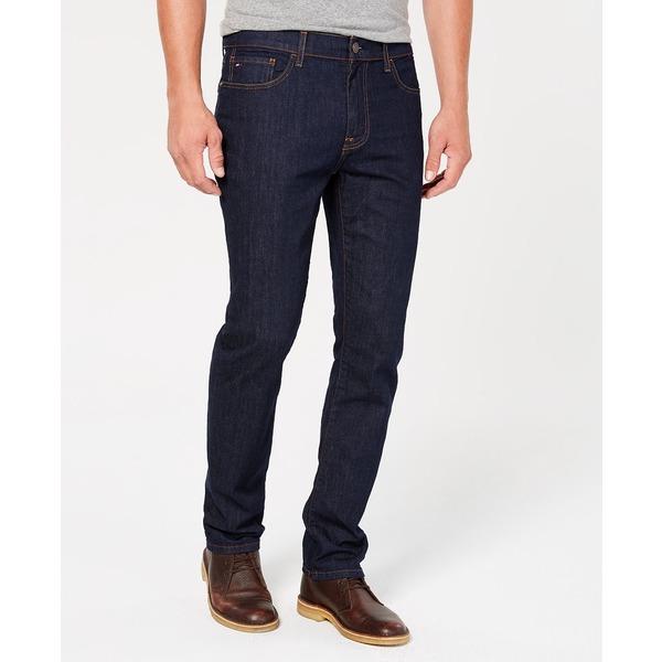 スーパーセール期間限定 トミー ヒルフィガー メンズ デニムパンツ ボトムス Men's Straight Fit Stretch Jeans Rinse Wash, aline 768368c6