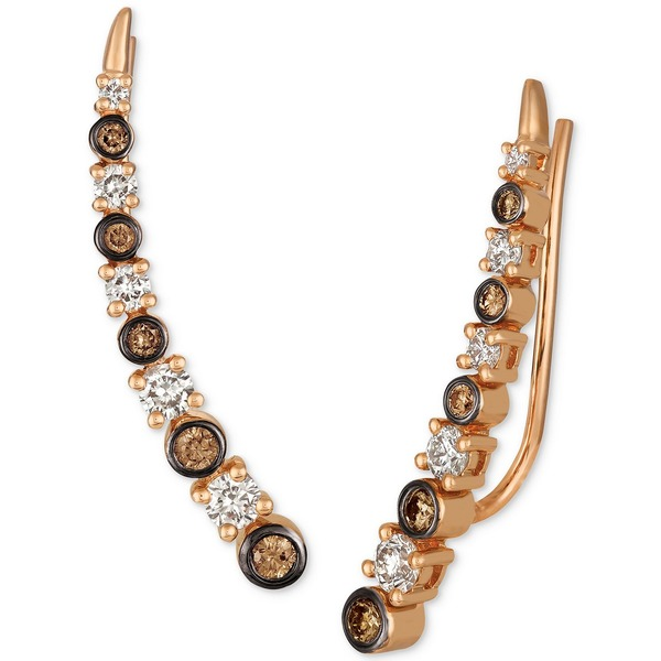 おすすめネット ルヴァン レディース ピアス&イヤリング アクセサリー Strawberry & Nude Diamond Climber Earrings (3/4 ct. t.w.) in 14k Rose Gold Rose Gold, ギャラリーモダーン cbb7f35c