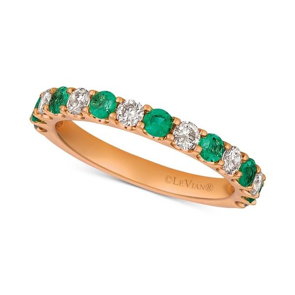 """日本限定 ルヴァン レディース リング アクセサリー Emerald (1/3 ct. t.w.) & Diamonds (1/2 ct. t.w.) Band in 14k Rose Gold (Also Available in Ruby & Sapphire) Emerald, 美美波""""viviva-beauty&accessory 2a7ad2e1"""
