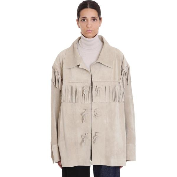 マルタンマルジェラ レディース ジャケット&ブルゾン アウター Maison Margiela Leather Jacket In Beige Leather beige