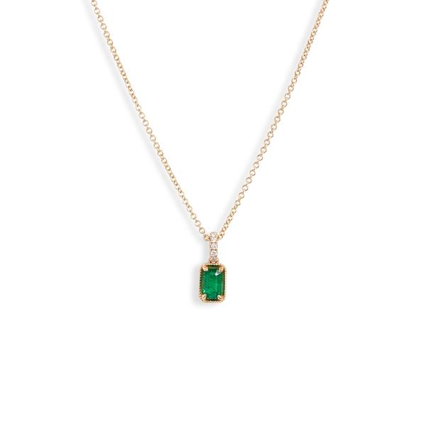 ボニー レヴィ レディース ネックレス・チョーカー・ペンダントトップ アクセサリー Bony Levy El Mar Emerald & Diamond Pendant Necklace (Nordstrom Exclusive) Yellow Gold/ Emerald