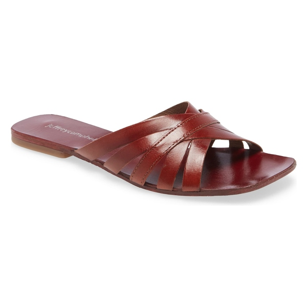 ジェフリー キャンベル レディース サンダル シューズ Jeffrey Campbell Amarra Slide Sandal (Women) Brown Leather