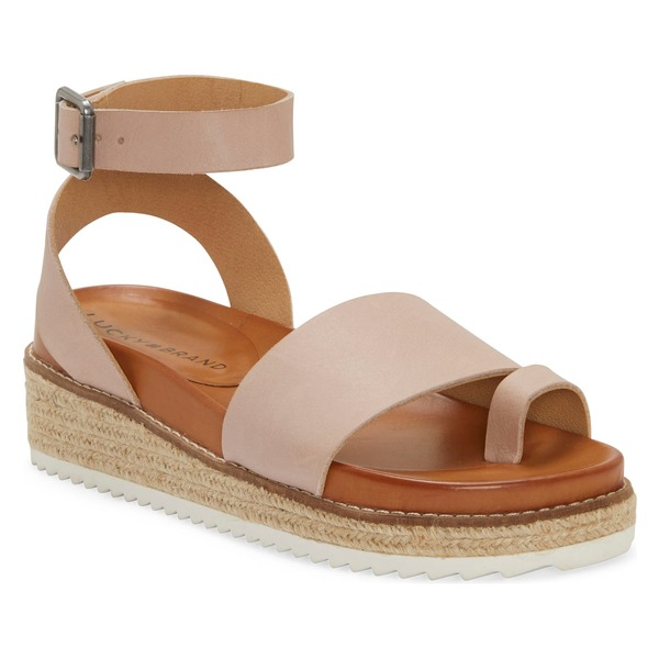 ラッキーブランド レディース サンダル シューズ Lucky Brand Itolva Ankle Strap Espadrille Sandal (Women) Adobe Rose Leather